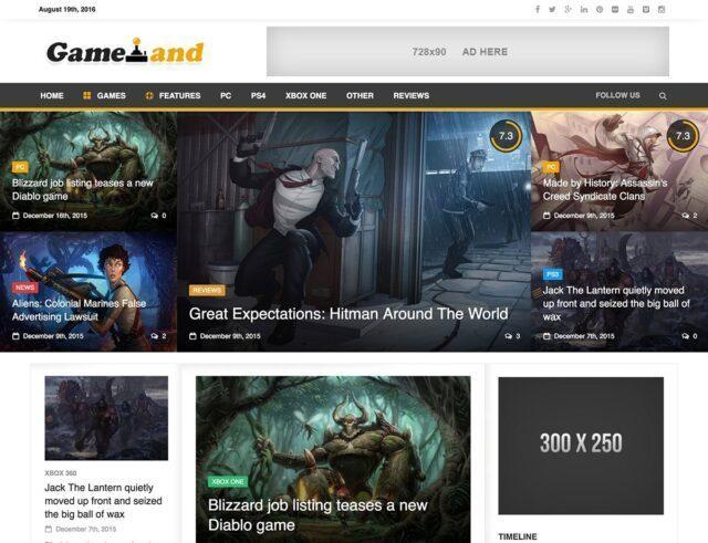 20 Best Exclusive Gaming WordPress Themes | Premium